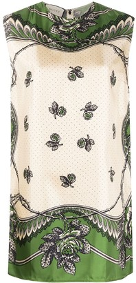 Gucci Floral Dotted Sleeveless Blouse