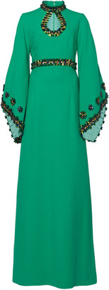 Andrew Gn Bead-Embellished Crepe Gown