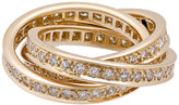 Cartier Estate Trinity de Cartier Classic 18k Pave Diamond Triple-Band Ring, Size 5