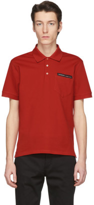Givenchy Red Tape Logo Polo