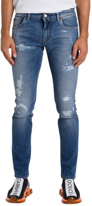 Dolce & Gabbana Slim-fit Jeans With Patch