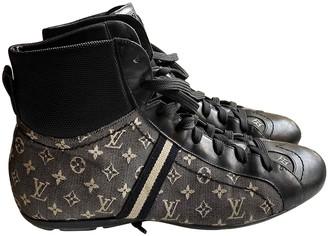Louis Vuitton Black Cloth Boots