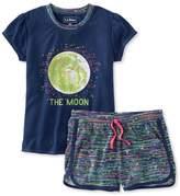 L.L. Bean Girls' Jersey-Knit PJs, Shorts Print