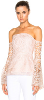 Nicholas Floral Lace Eva Top in Pink.