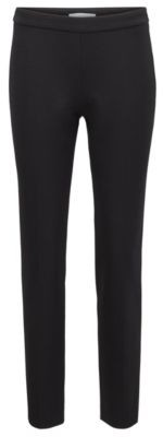 HUGO BOSS Slim Leg Pants In Stretch Jersey With Houndstooth Pattern - Black