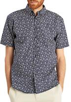 Joules Lloyd Mushroom Print Short Sleeve Shirt, Navy