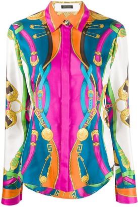 Versace Barocco Rodeo print shirt