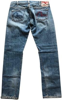 Evisu Blue Denim - Jeans Jeans for Women Vintage