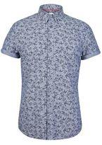 Burton Mens Chambray Leaf Print Shirt