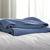 Crate & Barrel Siesta Blue Blanket