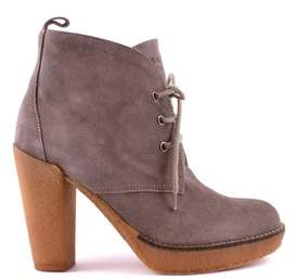 Serafini Women's Brown Suede Ankle Boots.