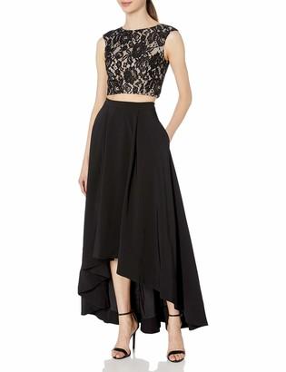 Aidan Mattox Aidan Women's Lace Two Piece Gown