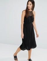 New Look Crochet Halter Midi Dress