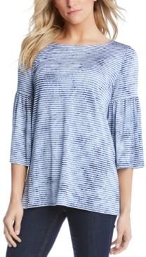 Karen Kane Printed Flare-Sleeve Top