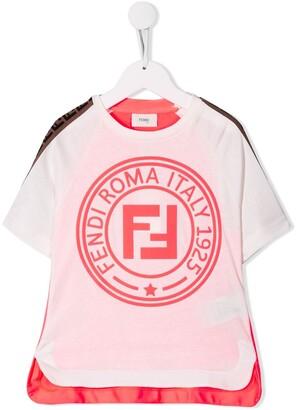Fendi Kids FF logo T-shirt