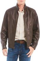 Daniel Cremieux Lightweight Lambskin Hipster Full-Zip Jacket