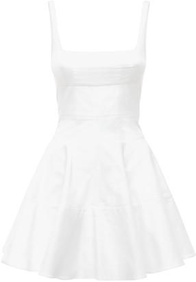 Giovanni Bedin Cotton Poplin Godet Mini Dress
