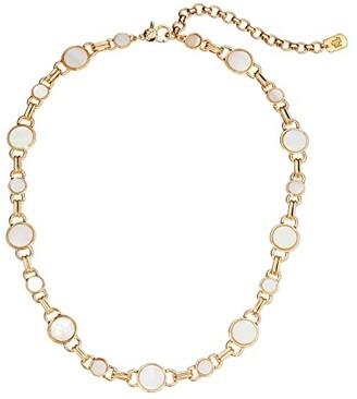 Lauren Ralph Lauren 16 Mother-of-Pearl Collar Necklace (White) Necklace