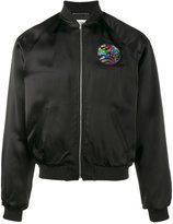 Saint Laurent shark embroidered bomber jacket - men - Viscose/Polyester/Polyurethane/Cotton - 48