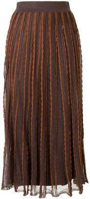 Alexis Zea scalloped knit skirt