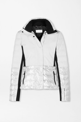Erin Snow Sari Metallic Quilted Ski Jacket - White
