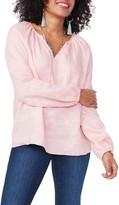 NYDJ Long Sleeve Linen Blouse