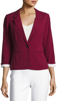 Kensie 3/4-Sleeve Knit Jacket, Purple