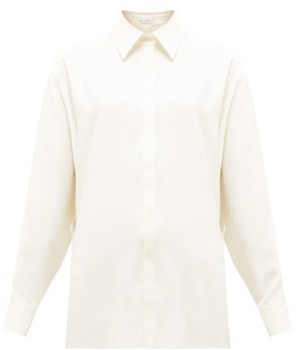 Raey Oversized Silk-crepe Satin-back Shirt - Ivory