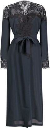 La Perla Floral Lace Detailed Robe