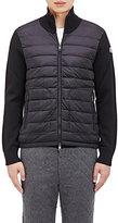 Moncler Men's Sweater-Back Down Jacket-BLACK