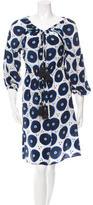 Figue Printed Knee-Length Dress