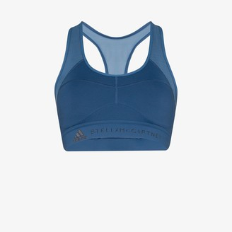 adidas by Stella McCartney Blue Logo Sports Bra