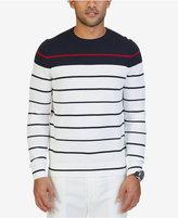 Nautica Men's Striped Crew-Neck Cotton Sweater