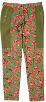 Thakoon Mid-Rise Floral Print Pants