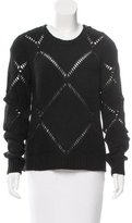 Zadig & Voltaire Leather-Accented Long Sleeve Sweater