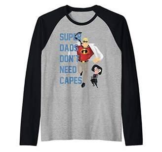 Disney Pixar Incredibles Super Dads No Capes Raglan Baseball Tee