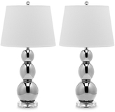 Safavieh Silver Gourd Glass Table Lamp (Set of 2)