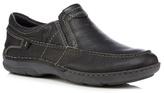 Hush Puppies Black Leather 'briggs Tallon' Slip-on Shoes
