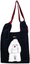 Muveil dog embellished shoulder bag - women - Cotton - One Size