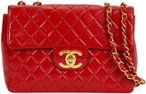 One Kings Lane Vintage Chanel Red Jumbo Single-Flap Bag