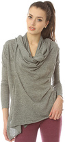 Alternative Apparel The Wrap It Up Shawl Cardigan Top in Eco Grey