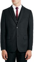 Topman Men's Black Slim Fit Suit Jacket