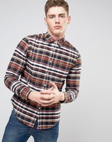 Lacoste Shirt With Bold Check In Regular Fit Navy