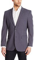 Perry Ellis Men's Grey/Navy Gingham Seersucker Sport Coat
