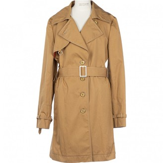 Tod's Camel Cotton Trench Coat for Women