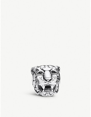 Thomas Sabo Rebel Tiger sterling silver and zirconia charm bead