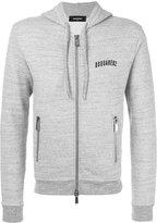 DSQUARED2 logo print hoodie - men - Cotton - S