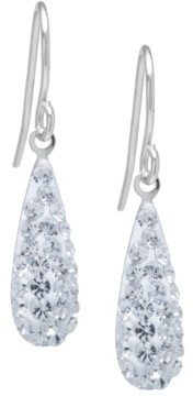 Giani Bernini Pave Crystal Teardrop Earrings in Sterling Silver. Available in Clear, Black, Blue, Multi, Purple or Red
