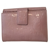Christian Dior Pink Patent leather Wallet