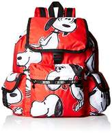 Le Sport Sac X Peanuts Voyager Back pack, Snoopy Toss Red, One Size